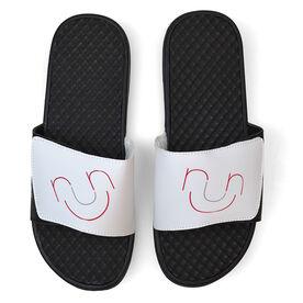 Running White Slide Sandals - Run Face