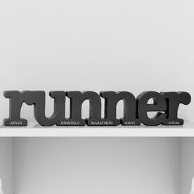Runner Bottom Personalization Engraved Wood Words
