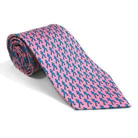 Runner Pink Silk Tie
