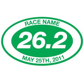 Personalized 26.2 Oval Running Vinyl Decal
