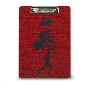 Triathlon Custom Clipboard Tri Inspiration Male