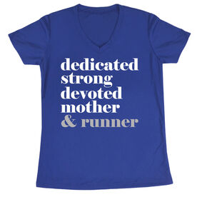 Women's Short Sleeve Tech Tee - Run Mantra Mother Runner