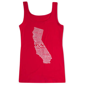 Women's Athletic Tank Top California State Runner