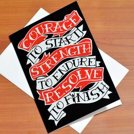 Courage to Start Tattoo Greeting Card