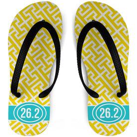 Running Flip Flops Tread Pattern With Ribbon 26.2