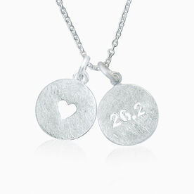 Livia Collection Sterling Silver Marathon Love Necklace