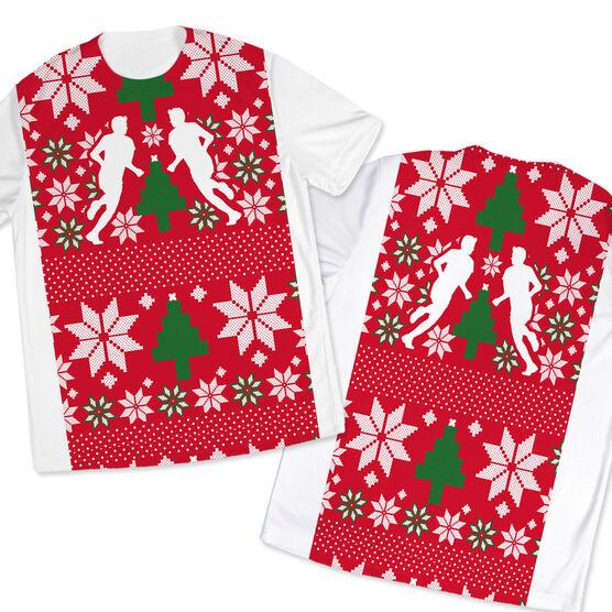 Men's Running Customized Short Sleeve Tech Tee Ugly Sweater Vest