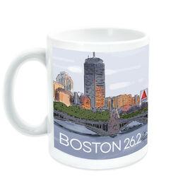 Running Ceramic Mug - Boston Sketch