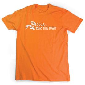 Running Short Sleeve T-Shirt - She Runs This Town Logo (White)