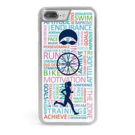 Triathlon iPhone® Case - Swim Bike Run Inspiration Female