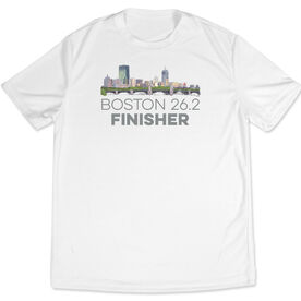 Men's Running Customized Short Sleeve Tech Tee Boston Sketch 26.2 Finisher