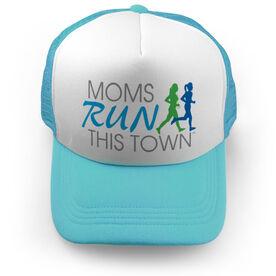 Running Trucker Hat - Moms Run This Town Logo