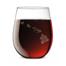 Stemless Wine Glass Hawaii State Runner