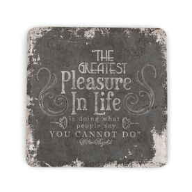 Running Stone Coaster Greatest Pleasure In Life