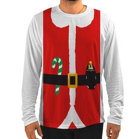 Men's Running Customized Long Sleeve Tech Tee Runner Santa