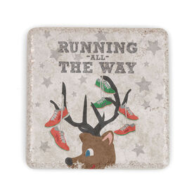 Running Stone Coaster Runner Reindeer