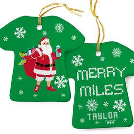 Running Porcelain Ornament Santa Runner