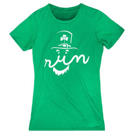 Women's Everyday Runners Tee Leprechaun Run Face