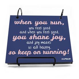 BibFOLIO® Race Bib Album - When You Run You Feel Joy