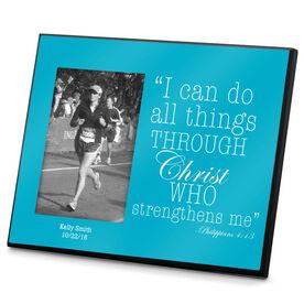 Running Photo Frame All Things Through Christ