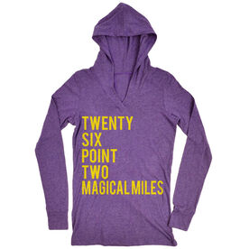 Women's Running Lightweight Performance Hoodie Twenty Six Point Two Magical Miles
