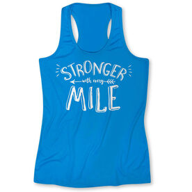 Womens' Performance Singlet Stronger With Every Mile