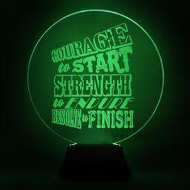 Running Acrylic LED Lamp Courage To Start