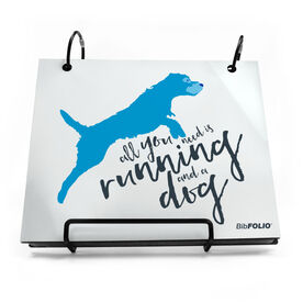 BibFOLIO® Race Bib Album - All You Need Is Running And A Dog