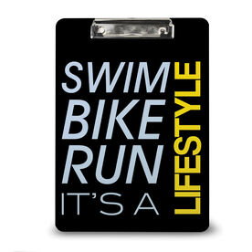 Triathlon Custom Clipboard Swim Bike Run Lifestyle