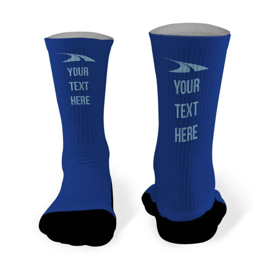 Running Printed Mid Calf Socks Personalized Text
