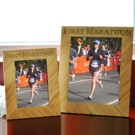 Bamboo Engraved Picture Frame First Marathon