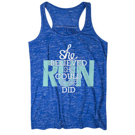 Flowy Racerback Tank Top - She Believed She Could So She Did
