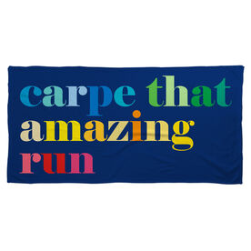 Running Beach Towel - Carpe That Amazing Run