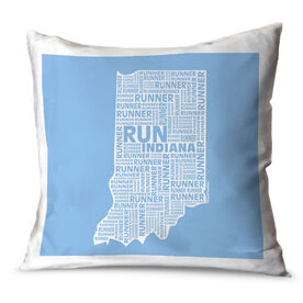 Running Throw Pillow Indiana State Runner