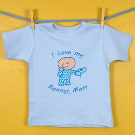 Baby T-shirt I Love My Runner Mom