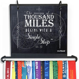BibFOLIO Plus Race Bib and Medal Display - The Journey Of A Thousand Miles