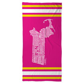 Running Beach Towel Massachusetts State Runner