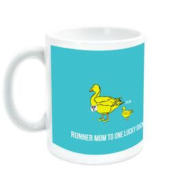 Running Ceramic Mug Runner Mom Lucky Ducks