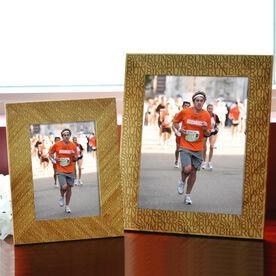 Bamboo Engraved Picture Frame Swim Bike Run