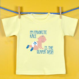 Baby T-shirt My Favorite Race Is The Diaper Dash