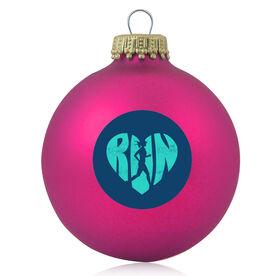 Running Glass Ornament Love The Run