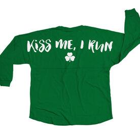 Running Statement Jersey Shirt Kiss Me I Run