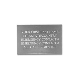 Premier Silicone IDmeBAND Replacement ID Plate