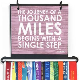 BibFOLIO Plus Race Bib and Medal Display - Journey of a Thousand Miles Rustic
