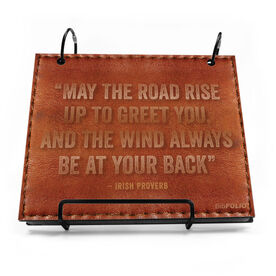 BibFOLIO® Race Bib Album - May The Road Rise Up To Greet You Quote Executive