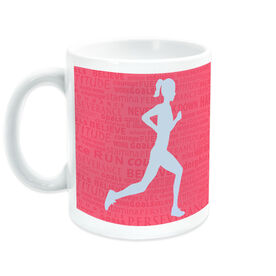 Running Ceramic Mug Inspiration Words Female