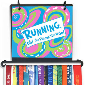 BibFOLIO Plus Race Bib and Medal Display Running Oh The Places You'll Go