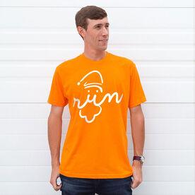 Running Short Sleeve T-Shirt - Santa Run Face