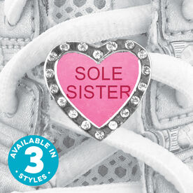Shoe Lace Charm Sole Sister Candy Heart