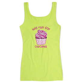 Women's Athletic Tank Top Will Run For Cupcakes